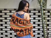Towel, Rainbow Logo, dark orange-Home Decor-Practice Empathy