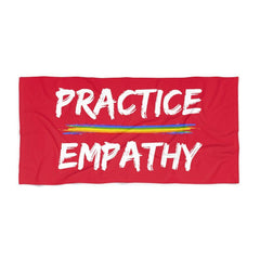Towel, Rainbow Logo, deep red-Home Decor-Practice Empathy
