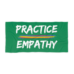 Towel, Rainbow Logo, forest green-Home Decor-Practice Empathy