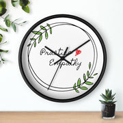 Wall Clock, Olive Branch Logo-Home Decor-Practice Empathy