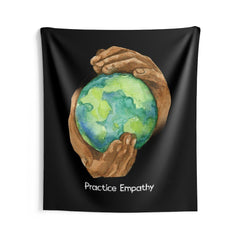 Wall Tapestry, Nourishing Home, black-Home Decor-Practice Empathy