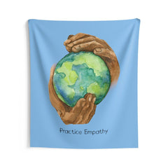 Wall Tapestry, Nourishing Home, Carolina blue-Home Decor-Practice Empathy