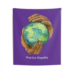 Wall Tapestry, Nourishing Home, dark purple-Home Decor-Practice Empathy