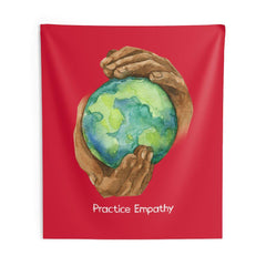 Wall Tapestry, Nourishing Home, dark red-Home Decor-Practice Empathy