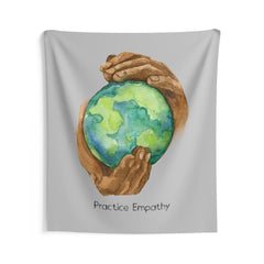 Wall Tapestry, Nourishing Home, light gray-Home Decor-Practice Empathy