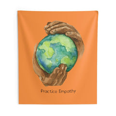Wall Tapestry, Nourishing Home, orange-Home Decor-Practice Empathy