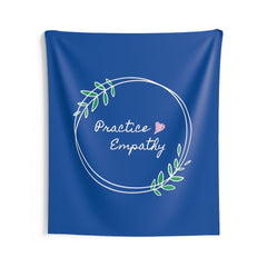 Wall Tapestry, Olive Branch Logo, royal blue-Home Decor-Practice Empathy