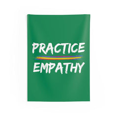 Wall Tapestry, Rainbow Logo, forest green-Home Decor-Practice Empathy