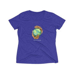 Women's Heather Wicking Tee, Nourishing Home-T-Shirt-Practice Empathy