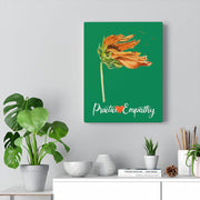 Word to the Wind, Canvas Gallery Wrap, forest green-Canvas-Practice Empathy