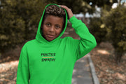 Youth Heavy Blend Hooded Sweatshirt, Rainbow Logo-Kids clothes-Practice Empathy
