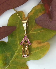 Load image into Gallery viewer, Imperial Topaz and Pink Sapphire Necklace
