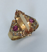 Load image into Gallery viewer, Imperial Topaz and Pink Sapphire Ring