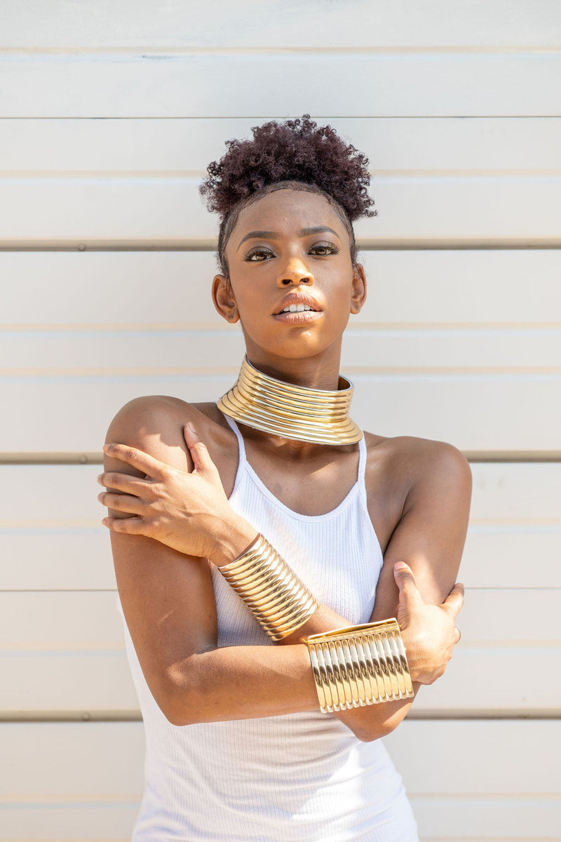 Gold Colored Ndebele Choker (Idzila)