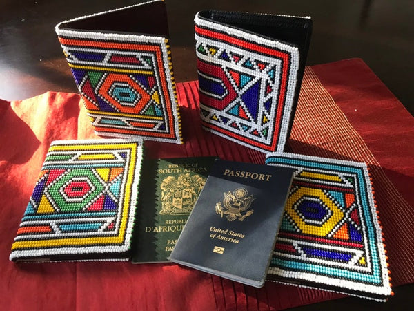 Enza Beaded Passport Holder