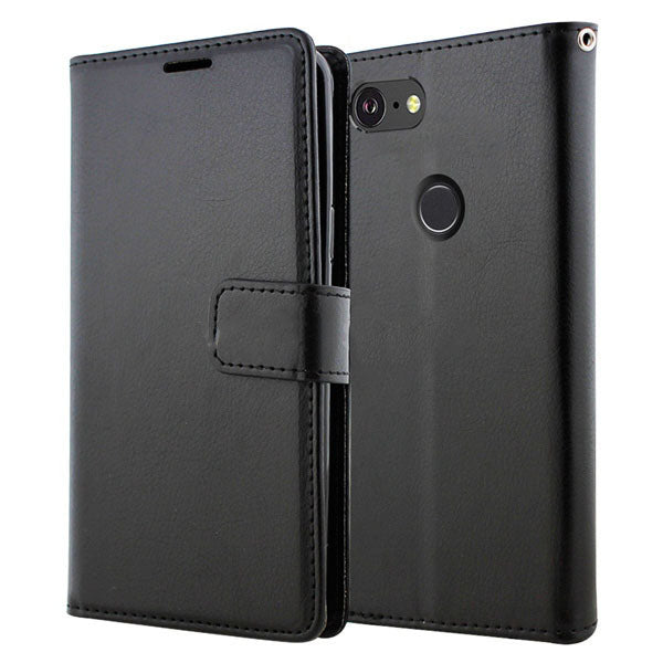 Google Pixel 3 Premium PU Leather Flip Wallet
