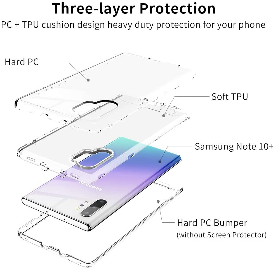 Samsung Note 10 Plus Clear Hybrid Case