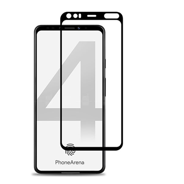 Samsung A21 Temepered Glass Full Cover Black