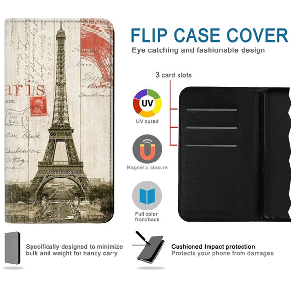 iPhone 7/8/SE Eiffel Tower Book wallet