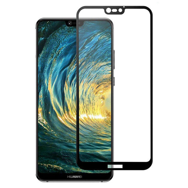 Huawei P20 Lite  Temepered Glass Full Cover Black