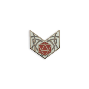 d20 Chevron in Red-orange, Character Builder Series