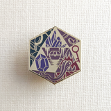 d20 Treasure Enamel Pin