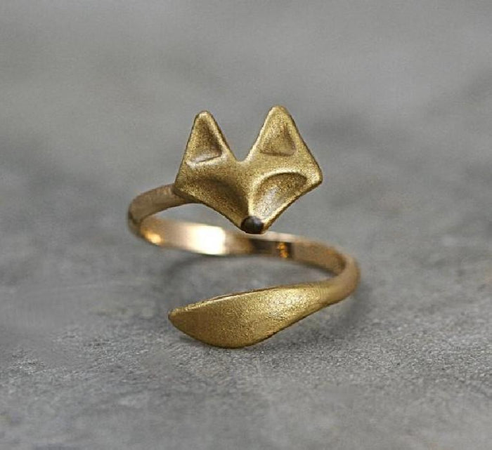 Golden Casual Alloy Rings