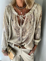 Plus size Boho Long Sleeve Shirts & Tops