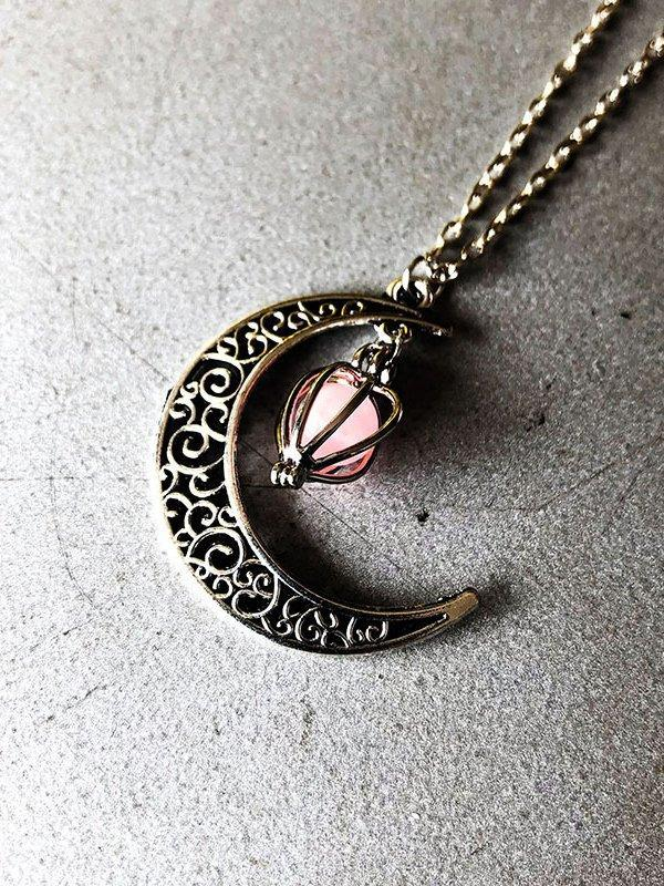 Ghost hollow Moon Necklace