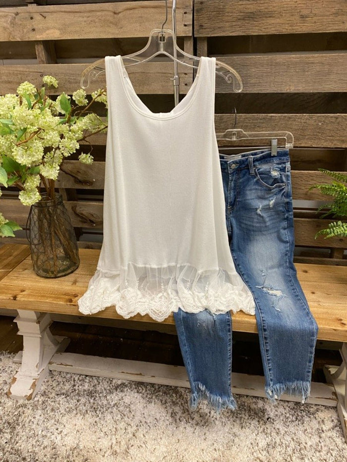 Sweet Lace Bottoming Vest