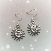 Vintage Ice and Fire Sun Moon Earrings