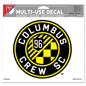 Columbus Crew SC Multi-Use Decal - Clear Background 5 x 6 - Columbus Soccer Shop