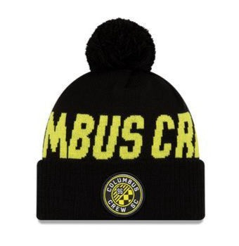 COLUMBUS CREW SC KIDS JR. KNITWORD CUFFED POM KNIT - Columbus Soccer Shop