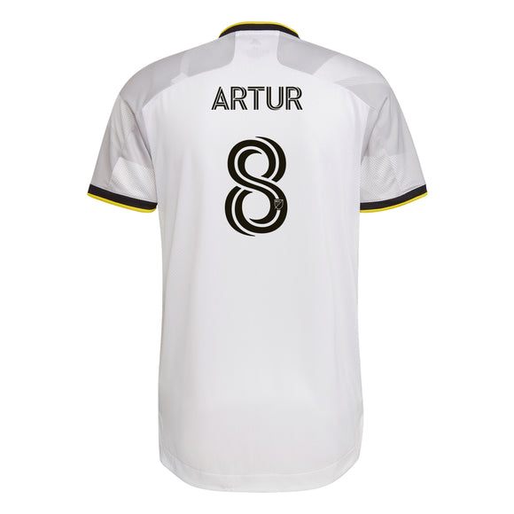 COLUMBUS CREW SC MEN'S GREY NATIONWIDE AUTHENTIC ARTUR JERSEY - Columbus Soccer Shop