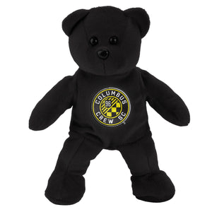 "Columbus Crew SC Plush Solid Bear 8"" Black - Columbus Soccer Shop"