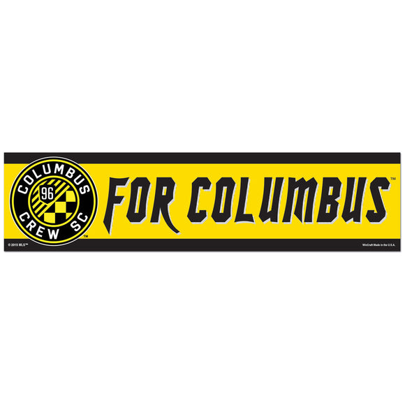 Columbus Crew SC For Columbus Bumper Strip 3 x 12 - Columbus Soccer Shop