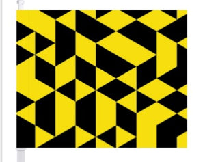 Columbus Crew SC Isometric Car Flag - Columbus Soccer Shop