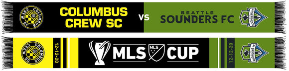 2020 MLS Cup Final Matchup Scarf - Columbus Soccer Shop