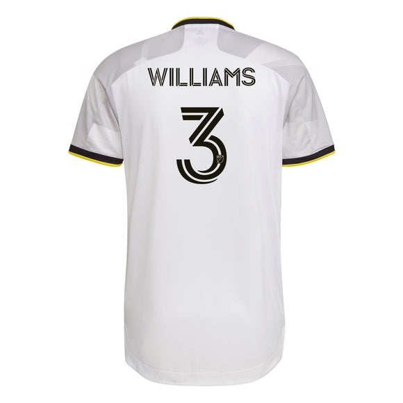 COLUMBUS CREW SC MEN'S GREY NATIONWIDE AUTHENTIC WILLIAMS JERSEY - Columbus Soccer Shop