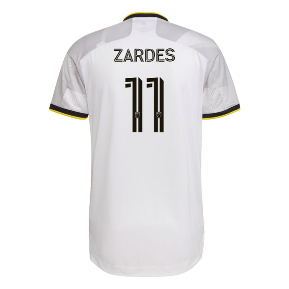 COLUMBUS CREW SC MEN'S GREY NATIONWIDE AUTHENTIC ZARDES JERSEY - Columbus Soccer Shop