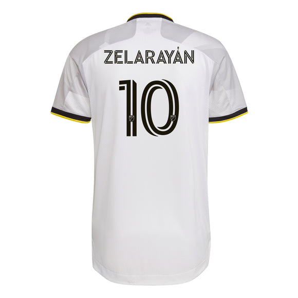 COLUMBUS CREW SC MEN'S GREY NATIONWIDE AUTHENTIC ZELARAYAN JERSEY - Columbus Soccer Shop