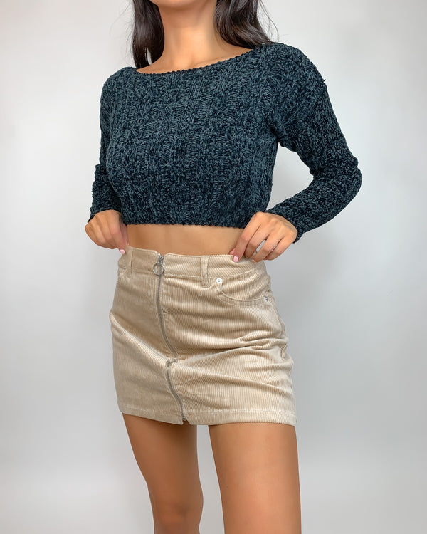Tiff Chenille Cropped Sweater
