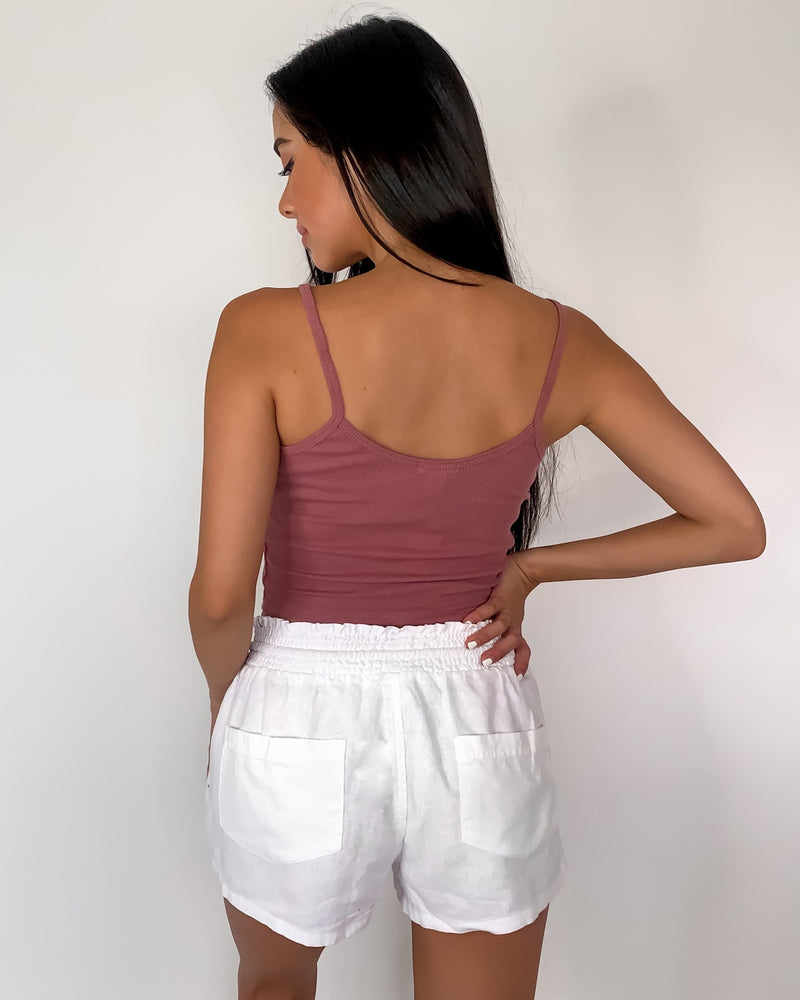 Back To Basics Ribbed Cropped Tank