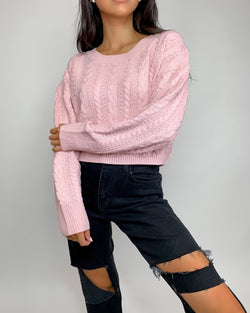 Rose Cable Knit Sweaters