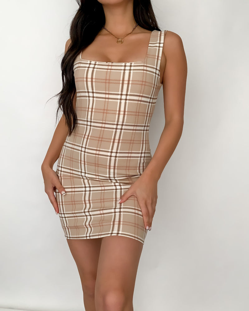 Camila Plaid Mini Dress