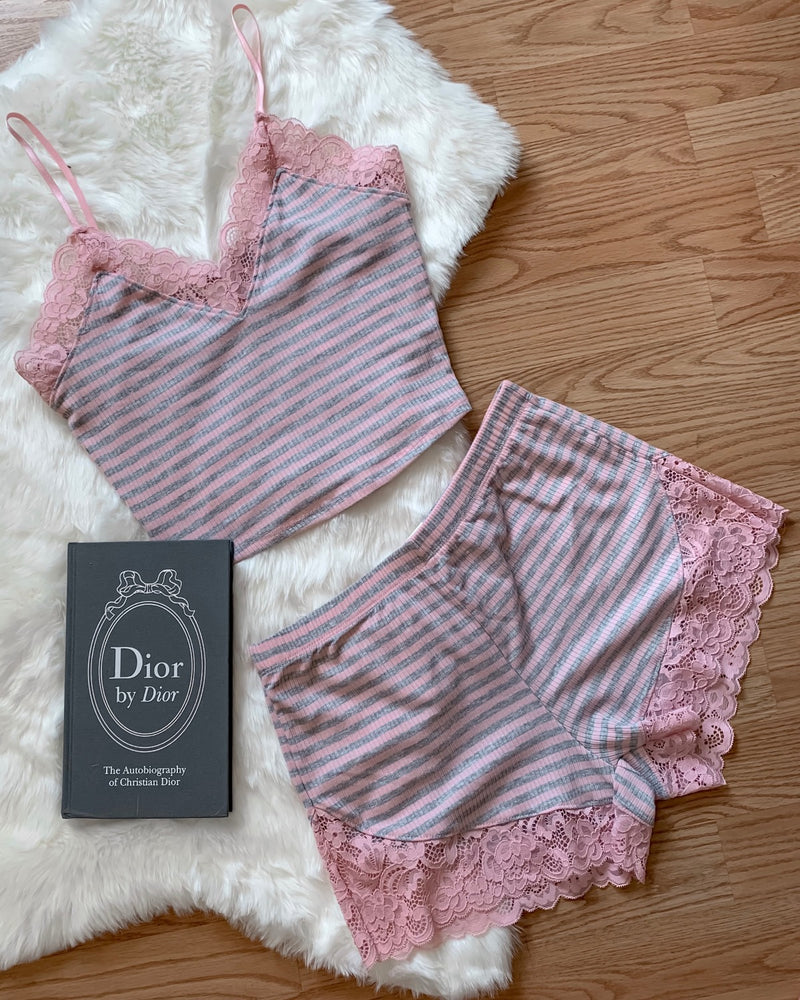 Karina Lace Striped Shorts