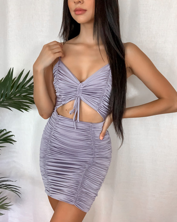 Twice As Nice Ruched Bodycon Dress