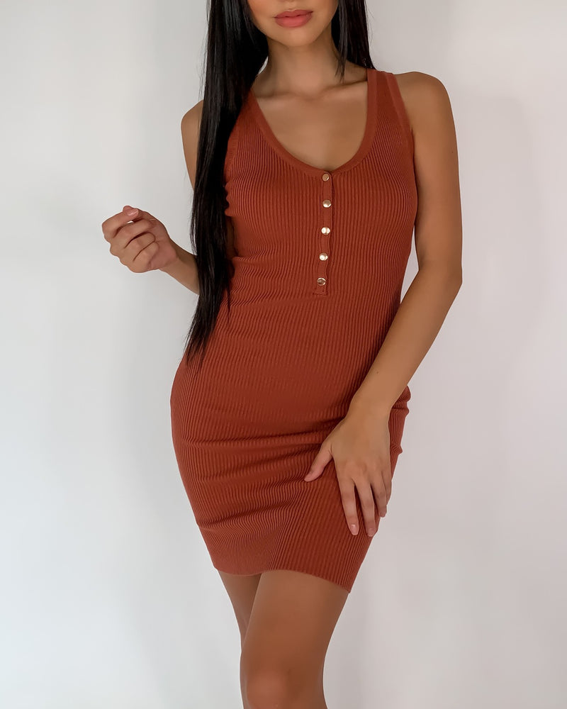 Whitney Ribbed Bodycon Dress
