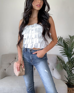 Kimmy Ruffle Tube Top