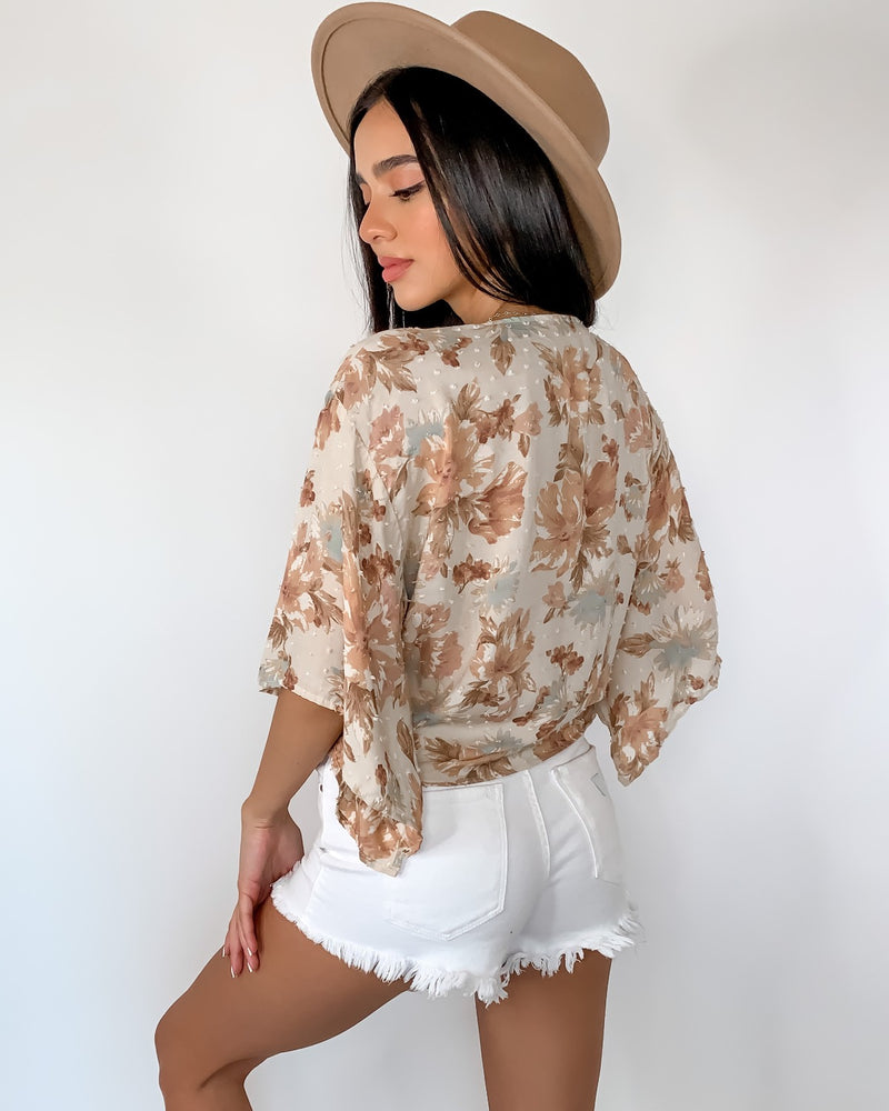 Florence Floral Tie Top